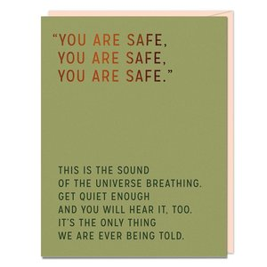 Emily McDowell Card | You Are Safe