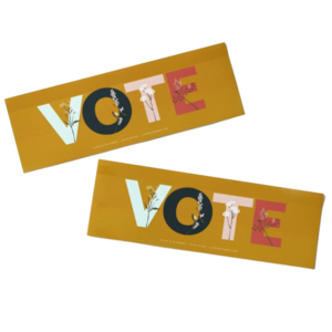 Bumper Sticker | VOTE | 3 x 9