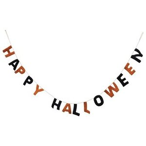 Creative Co-Op SALE | Felt Banner | Happy Halloween