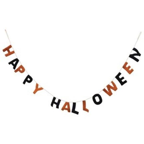 Creative Co-Op SALE   Felt Banner   Happy Halloween