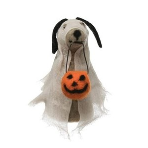 Creative Co-Op Felt Dog | Ghost Costume