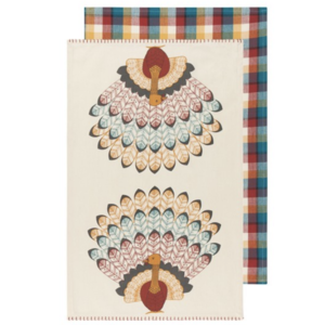 Now Designs Tea Towel | Set of 2 | Tommy Turkey