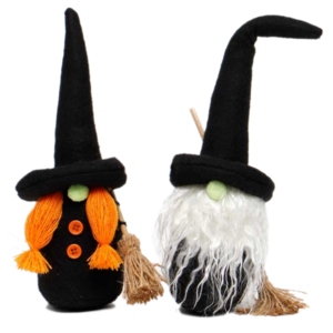 MeraVic SALE | Gnome | Witch with Broom