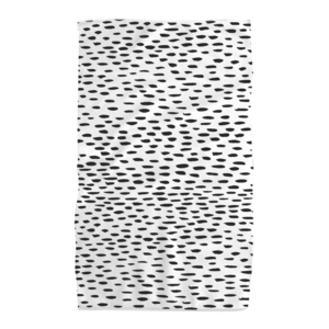 Tea Towel   Microfiber   Black Dots