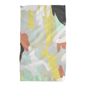 Geometry House Tea Towel | Microfiber | Cool Aqua Abstract