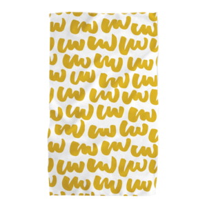 Geometry House Tea Towel | Microfiber | Yellow Scribbles