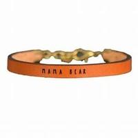 Laurel Denise LLC Leather Bracelet | Brown | Variety Script