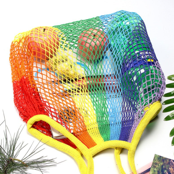 DHgate Shopping Bag | Mesh Net Rainbow