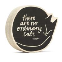 Wood Sign   Small   No Ordinary Cats