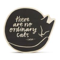 Compendium Wood Sign   Small   No Ordinary Cats