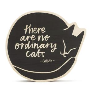 Compendium Wood Sign | Small | No Ordinary Cats