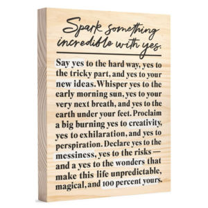 Wood Sign | Large | Spark Something Incredible