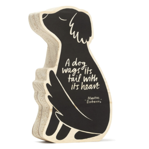 Compendium Wood Sign | Small | A Dog Wags its Tail