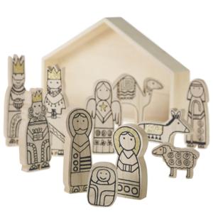 Accent Decor Nativity Scene | Illustrated Wood