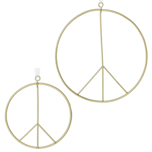 Accent Decor Ornament | Brass Peace Sign
