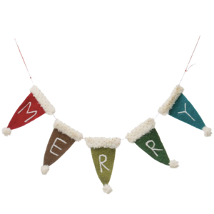 """Creative Co-Op Pennant Garland 