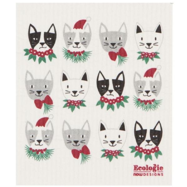Now Designs Swedish Dishcloth | Meowy Christmas