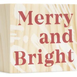 Compendium Wood Sign | Mini | Merry & Bright