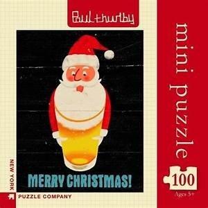 New York Puzzle Company Mini Puzzle | 100pc | Santa's Beerd