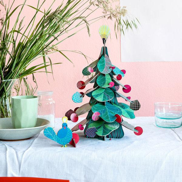 Studio Roof 3D Puzzle | Peacock Christmas Tree