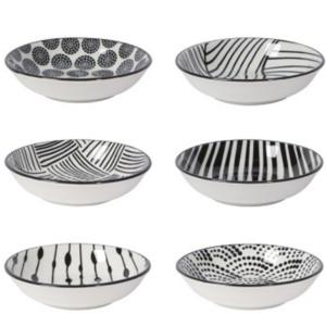 Now Designs Pinch Bowls | Dots Black | Set of 6
