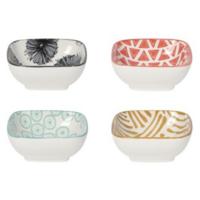 Now Designs Pinch Bowls   Mix & Prep Square Set of 4