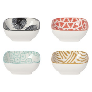 Now Designs Pinch Bowls | Mix & Prep Square | Set of 4