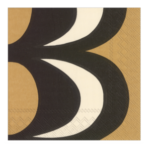 Boston International Napkins | Cocktail | Kaivo Black/Cream