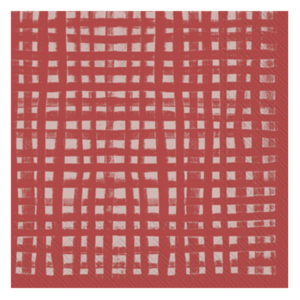 Boston International Napkins | Cocktail | Gentle Square Red