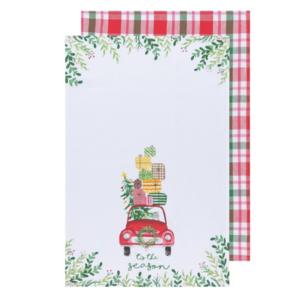 Now Designs Tea Towel | Set of 2 | Winter Wheels