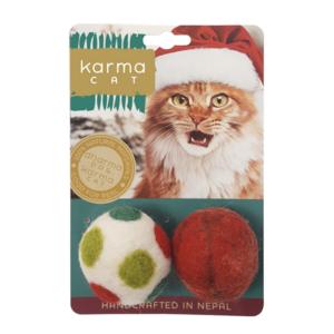 Distinctly Himalayan Cat Toy | 2-PK | Holiday Felt Balls