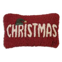 Chandler 4 Corners Hooked Pillow | 8x12 | Christmas