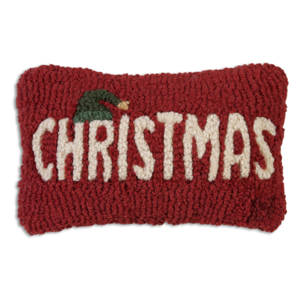 Chandler 4 Corners Hooked Pillow | 8x12 | Christmas