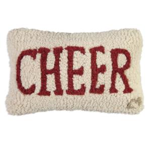 Chandler 4 Corners Hooked Pillow | 8x12 | Cheer