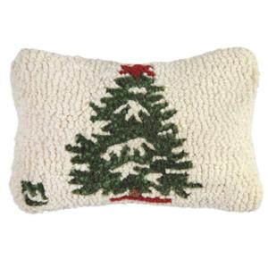 Chandler 4 Corners Hooked Pillow | 8x12 | Winter Tree