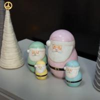 Accent Decor Santa   Pastel Figures   Set of 4