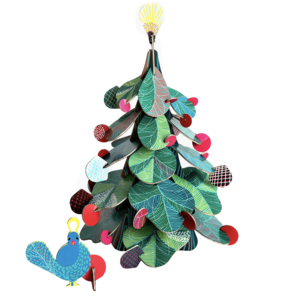 Studio Roof 3D Puzzle | Peacock Christmas Tree