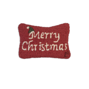 Chandler 4 Corners Hooked Pillow | 8x12 | Merry Christmas
