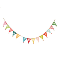 Creative Co-Op Pennant Banner | Colorful Merry Christmas