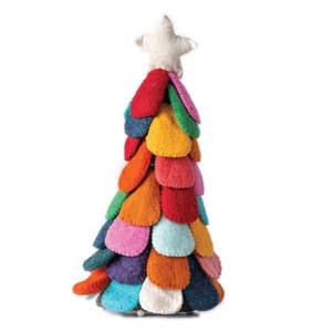 Creative Co-Op Felt Christmas Tree | Multicolor | 15""
