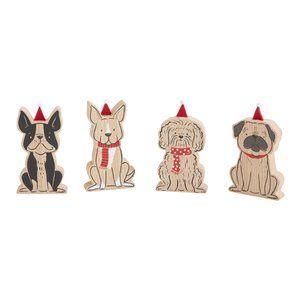 Accent Decor Santa Dogs | Set of 4