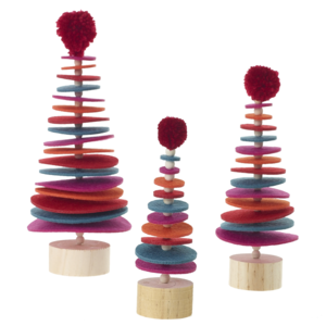 Accent Decor Felt Tree | Sugar Plum | Variety