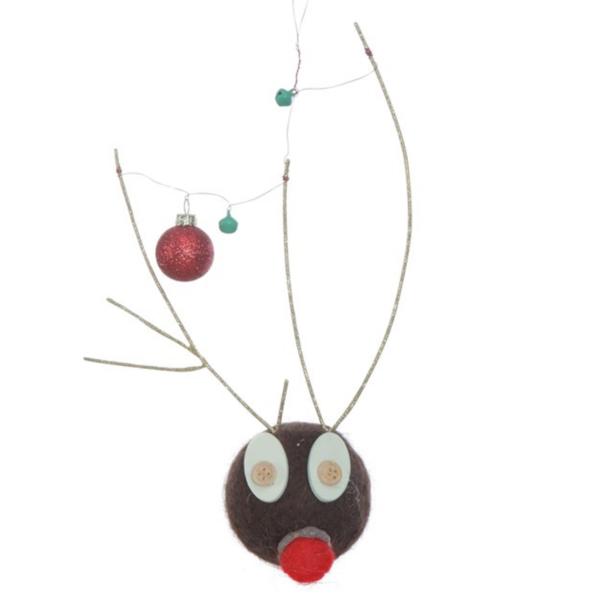 Creative Co-Op Ornament | Felt Deer