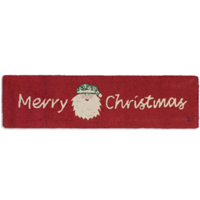 Chandler 4 Corners Hooked Rug | 1x4' | Merry Christmas Santa