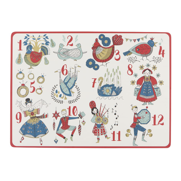 Now Designs Placemat | Cork | 12 Days of Christmas