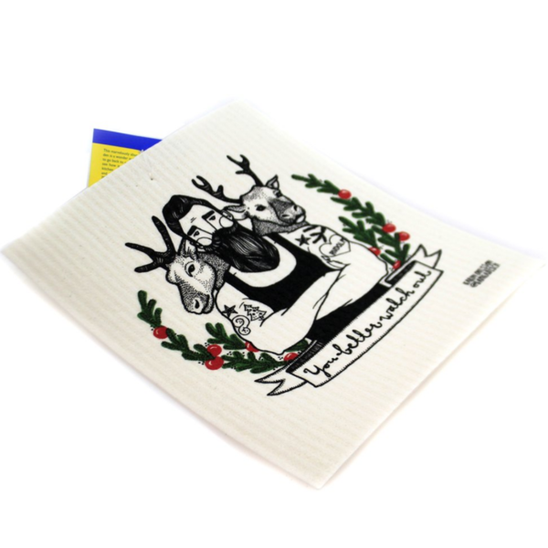 Cose Nuove Swedish Dishcloth   You Better Watch Out