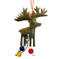 Moksha Imports Reindeer   Chime Charm