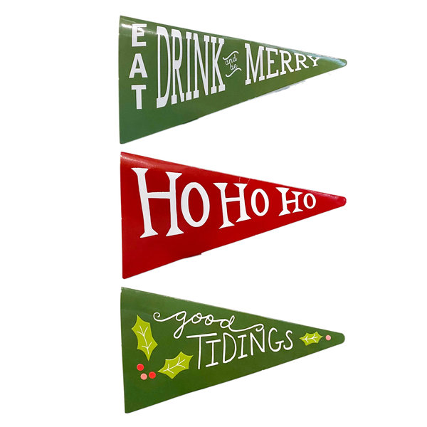 Creative Co-Op Matchbook | Pennant Holiday