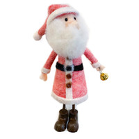 "Creative Co-Op Felt Santa Figure | 8"""