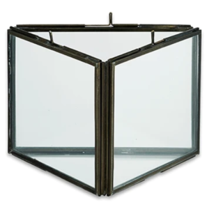 Nkuku Triple Panel Frame | Danta | Antique Black